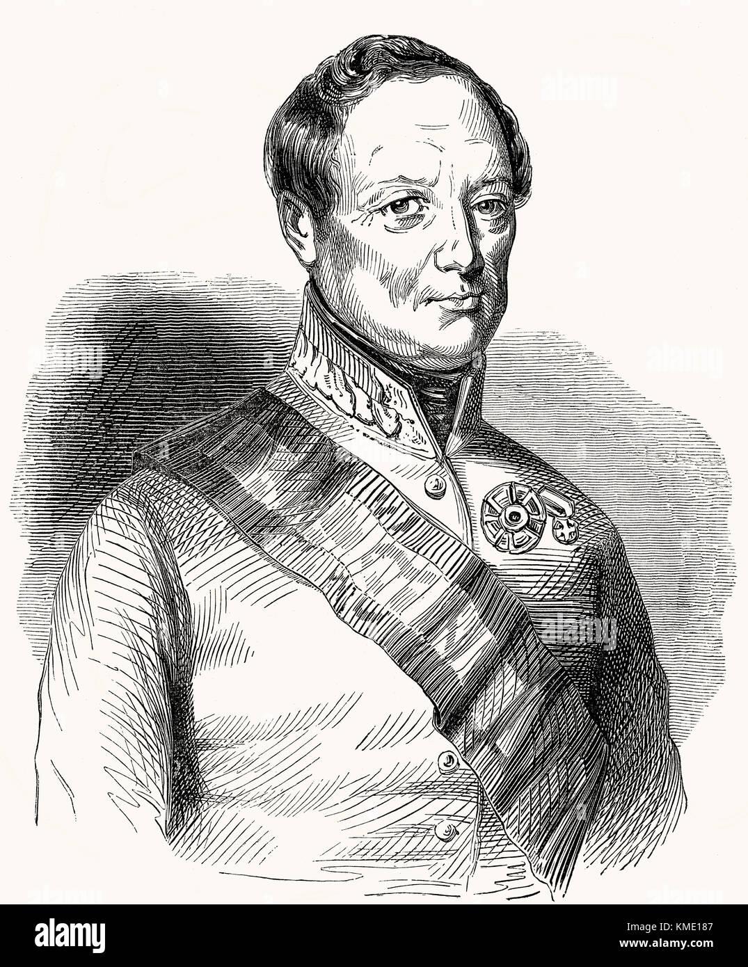 John Joseph Wenceslaus, Count Radetzky of Radetz, 1766 - 1858, a Czech nobleman and Austrian general - Stock Image