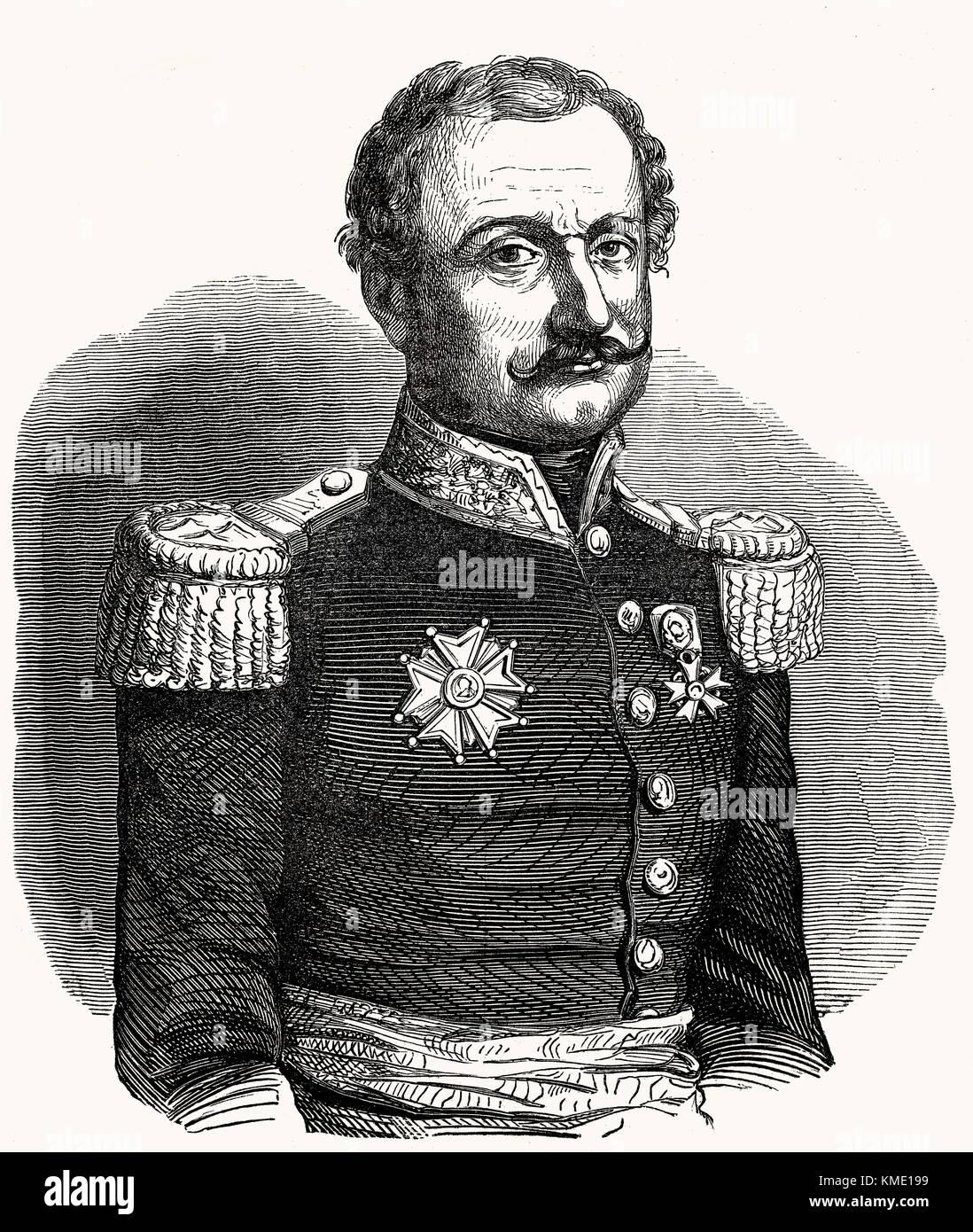 French commander and marshal General Nicolas Charles Victor Oudinot, Duke of Reggio, 1791 - 1863 - Stock Image