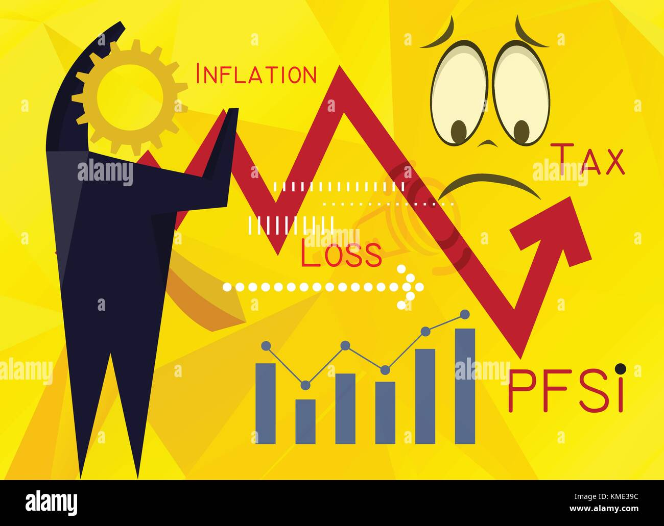 Understand Personal Financial Satisfaction index - Abstract as EPS 10 File - Stock Vector