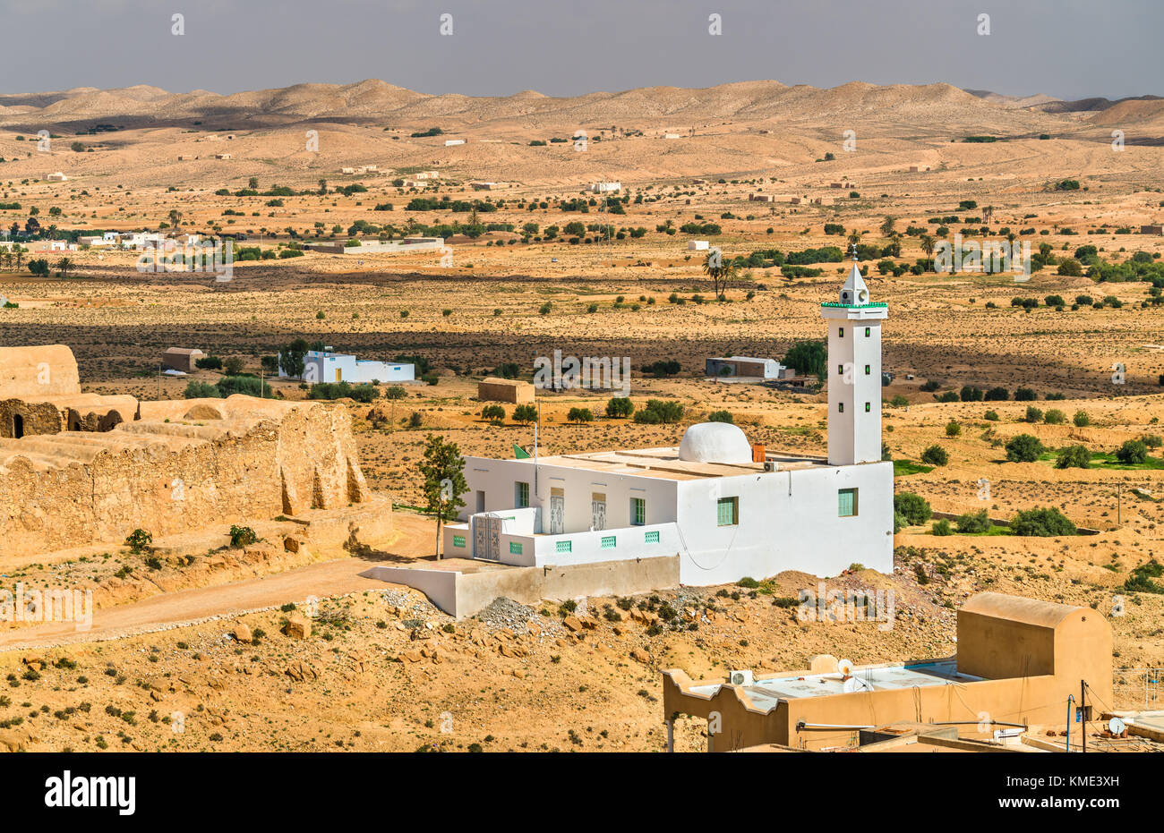 Mosque in Ksour Jlidet, South Tunisia Stock Photo