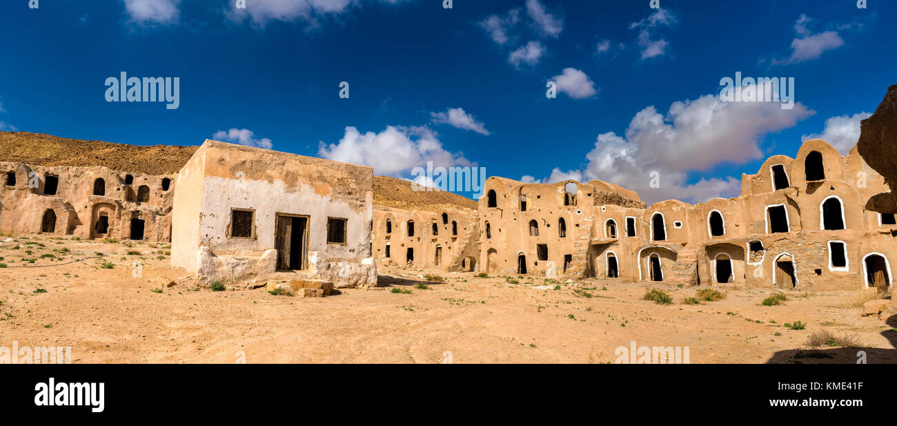 Ksar Ouled Mhemed at Ksour Jlidet village, South Tunisia - Stock Image