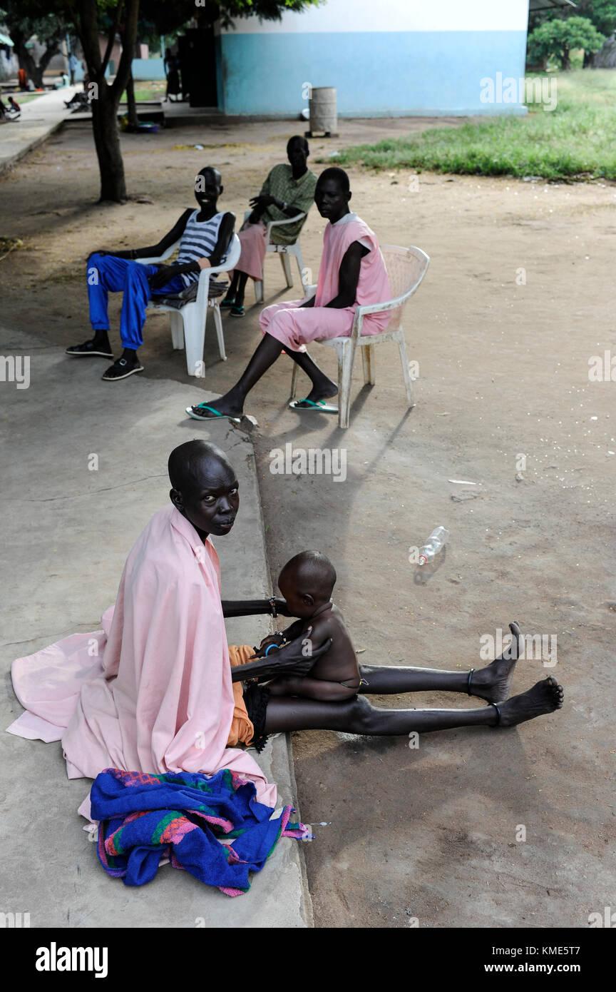 SOUTH SUDAN, Lakes State, hospital in village Mapuordit / SUED-SUDAN, Bahr el Ghazal regio , Lakes State, Mary Immaculate - Stock Image