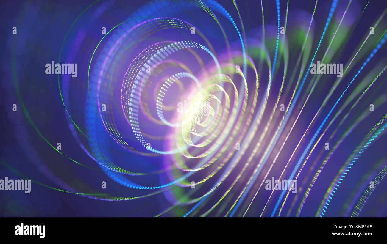 3D illustration. Abstract concept image of energy and mysteries of the universe. - Stock Image