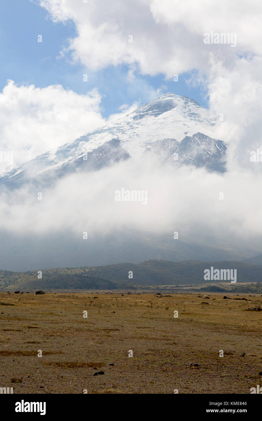 Cotopaxi volcano, Cotopaxi National Park, Ecuador, South America - Stock Image