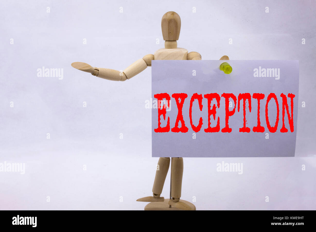 Conceptual hand writing text caption inspiration showing Exception Business concept for Exceptional Exception Management, - Stock Image