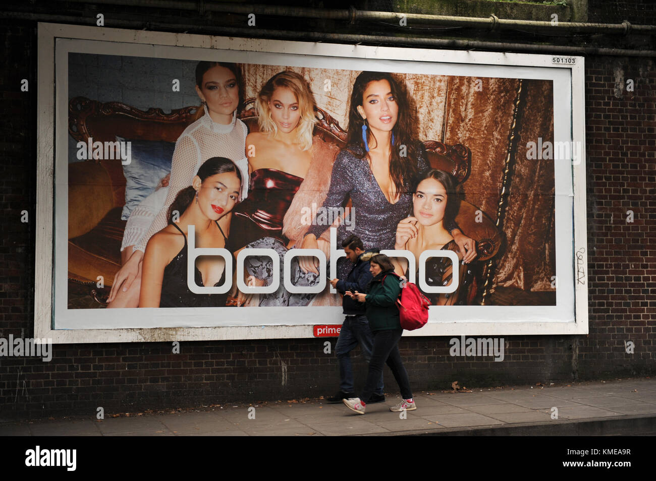 687c8bdd677 An advertising poster for boohoo the online shop in East Finchley ...