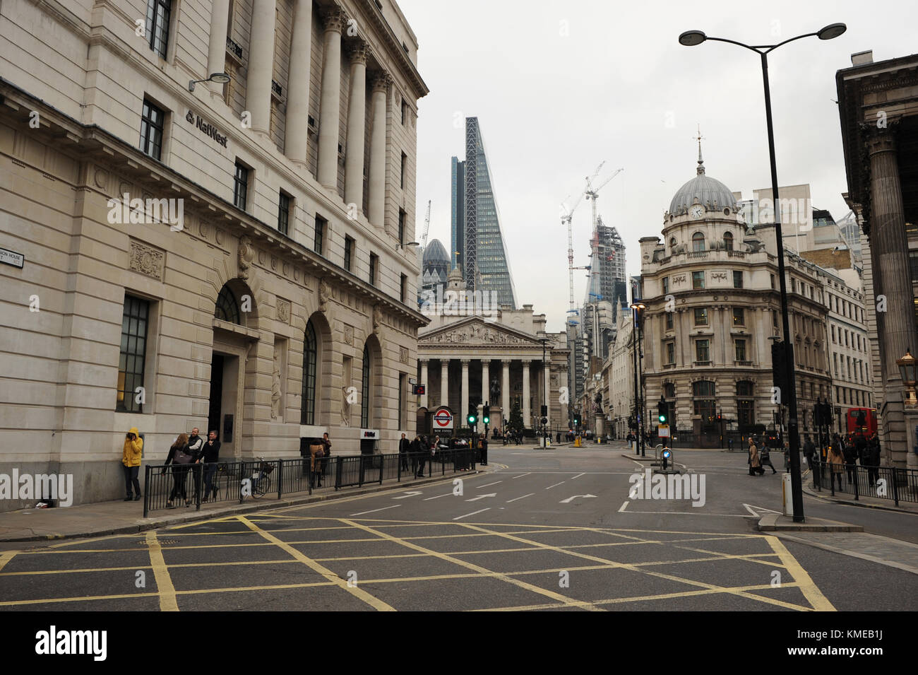 Queen Victoria Street in London England Stock Photo