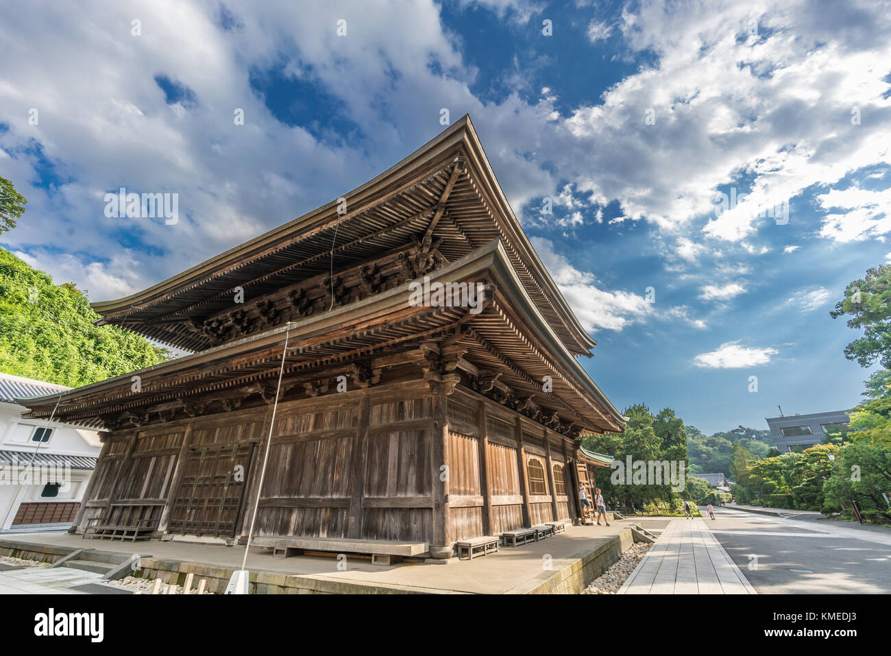 Kencho-ji temple,  Hatto (lecture hall) or Dharma Hall.  Kamakura, Kanagawa Prefecture, Japan - Stock Image