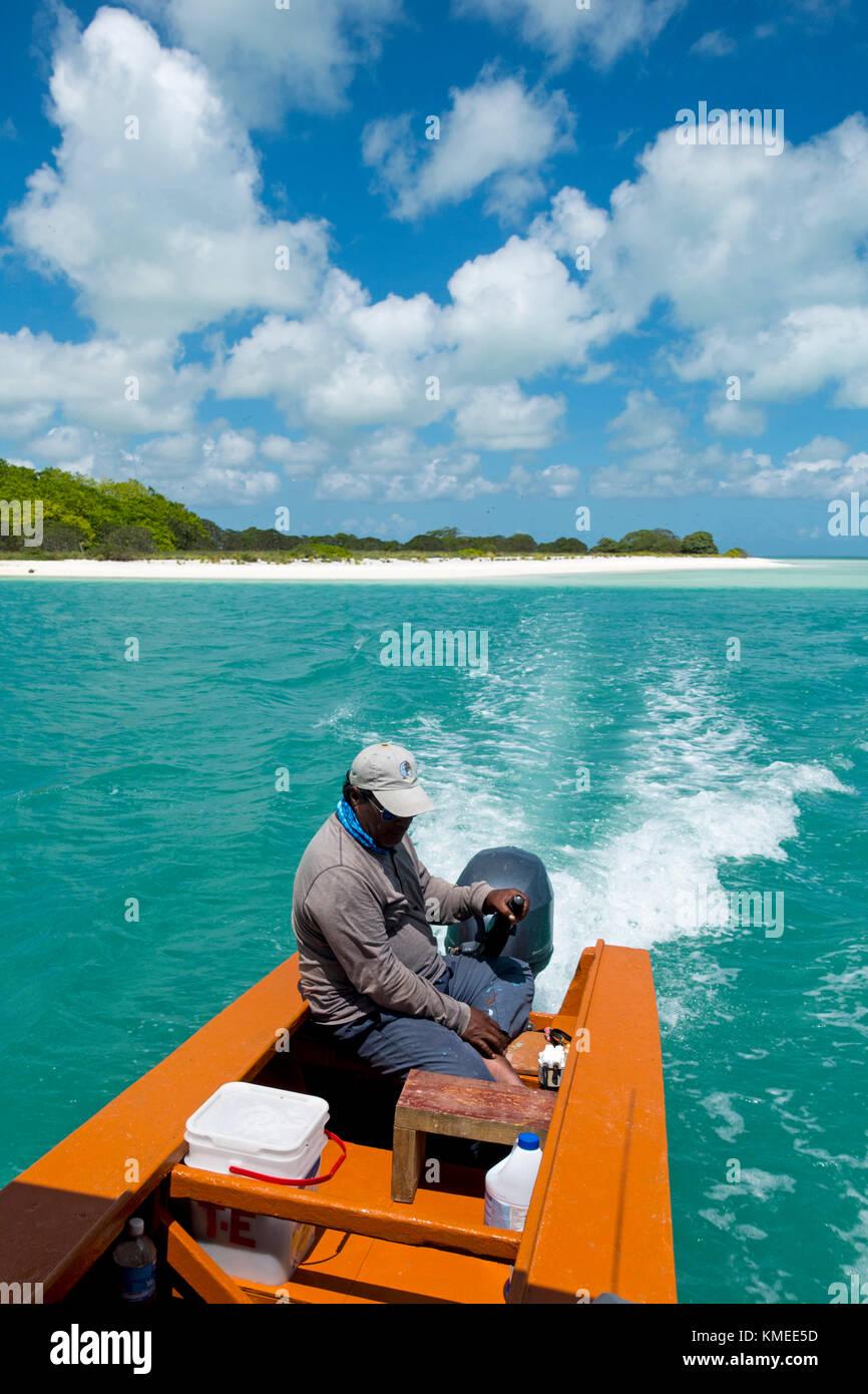 Headig out for Bonefish, Kiribati - Stock Image
