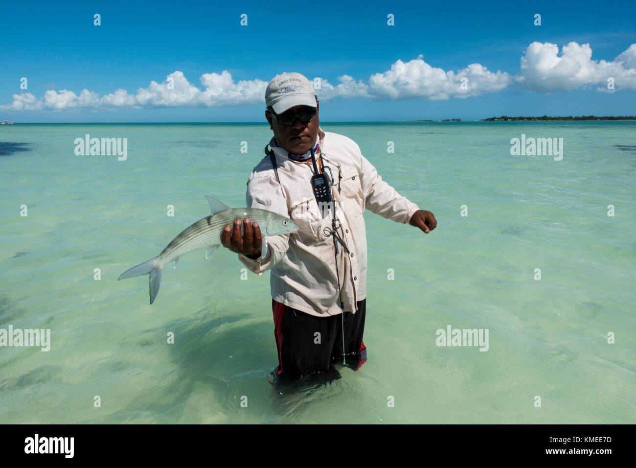 Bonefish caught at Christmas Island (Kiribati) - Stock Image