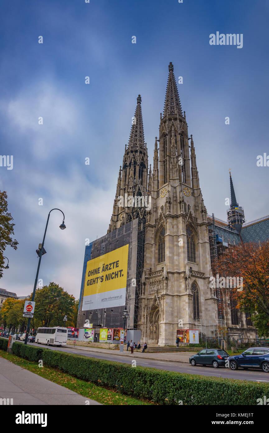 The Ring Vienna S Casual Luxury Hotel Vienna: Church Votivkirche Stock Photos & Church Votivkirche Stock