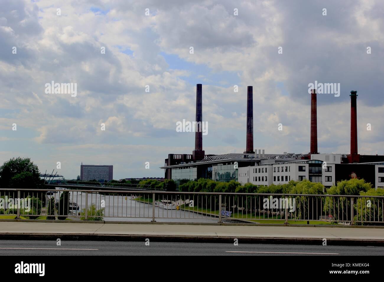 Headquarter of Volkswagen in Wolfsburg - Stock Image