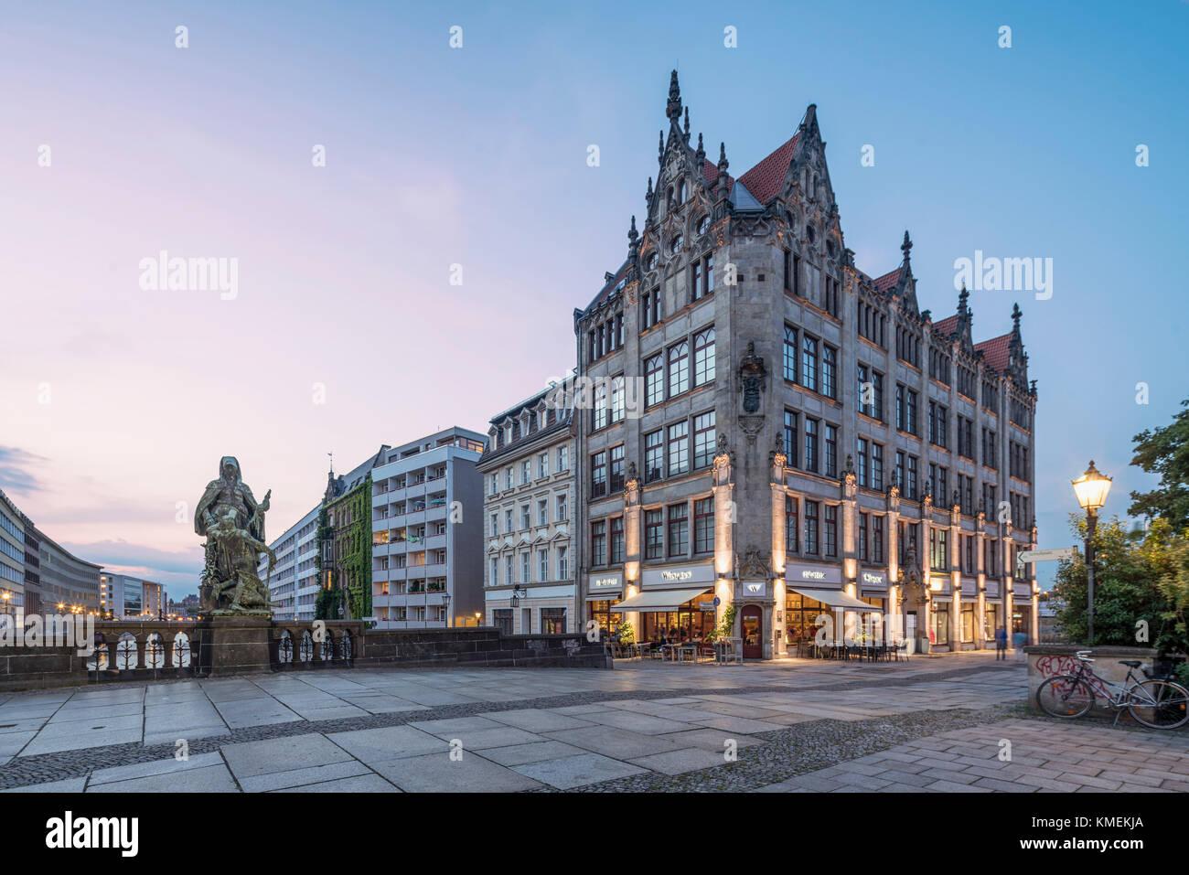 Hochzeitshaus, Juwel-Palais,  Gertraudendenkmal, Spittelmarkt, Berlin - Stock Image