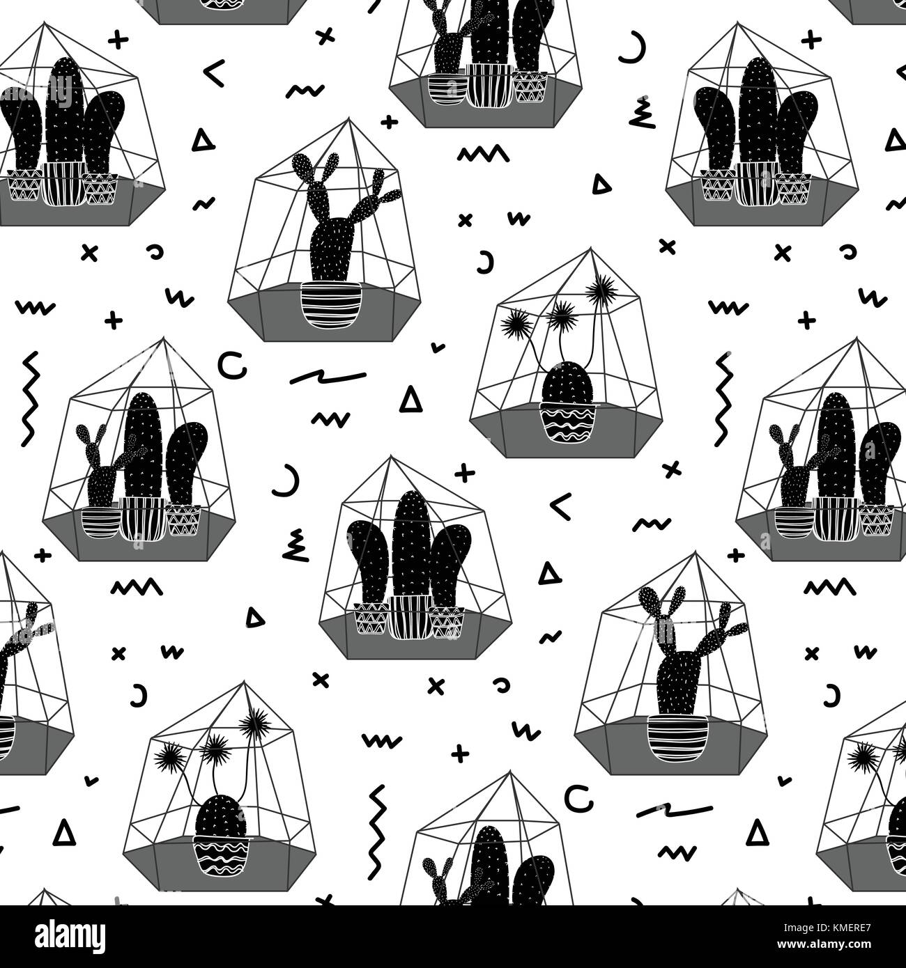 Cactus Vector Vector Vectors Black and White Stock Photos & Images ...