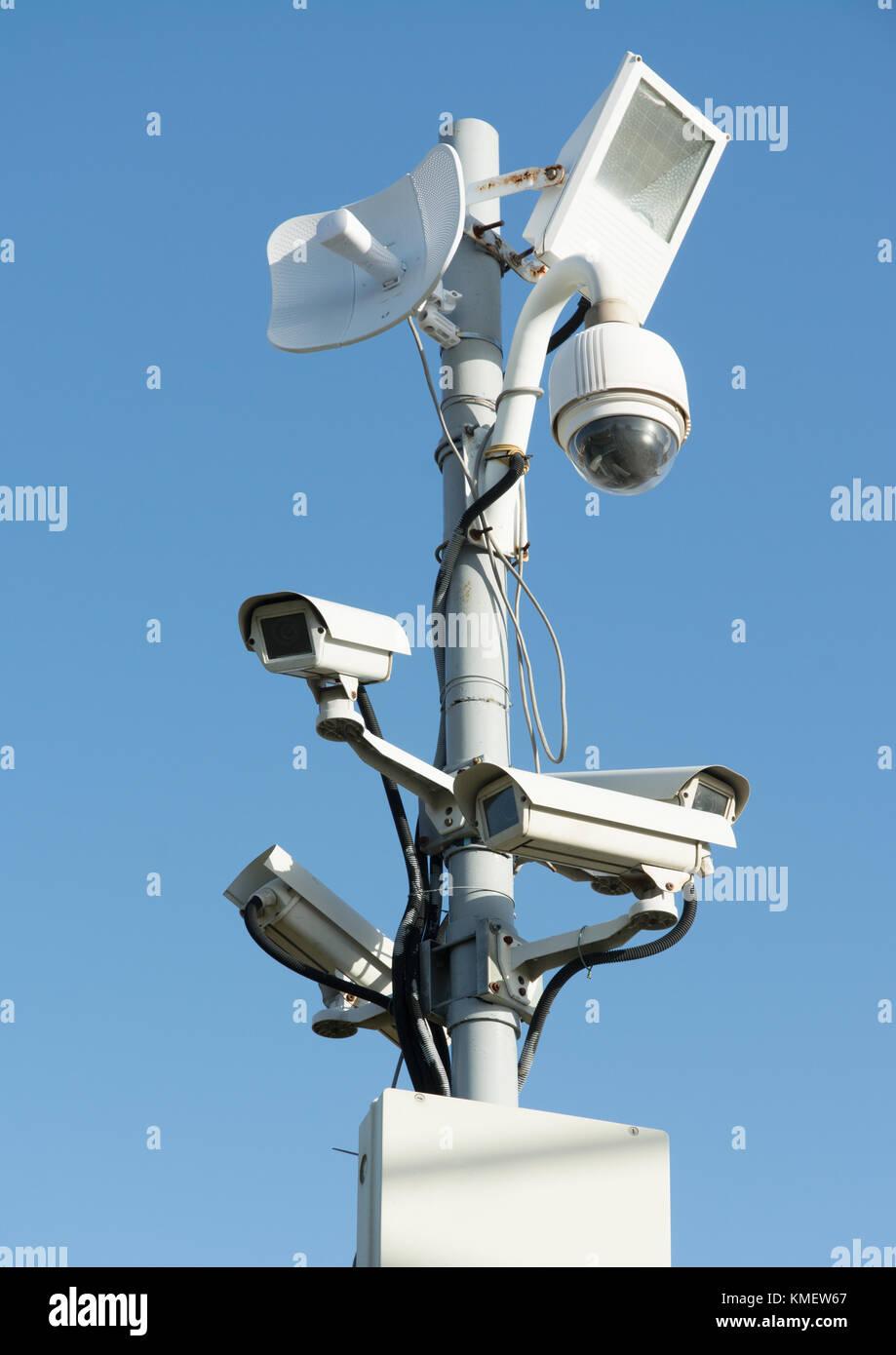 Security cameras - Stock Image