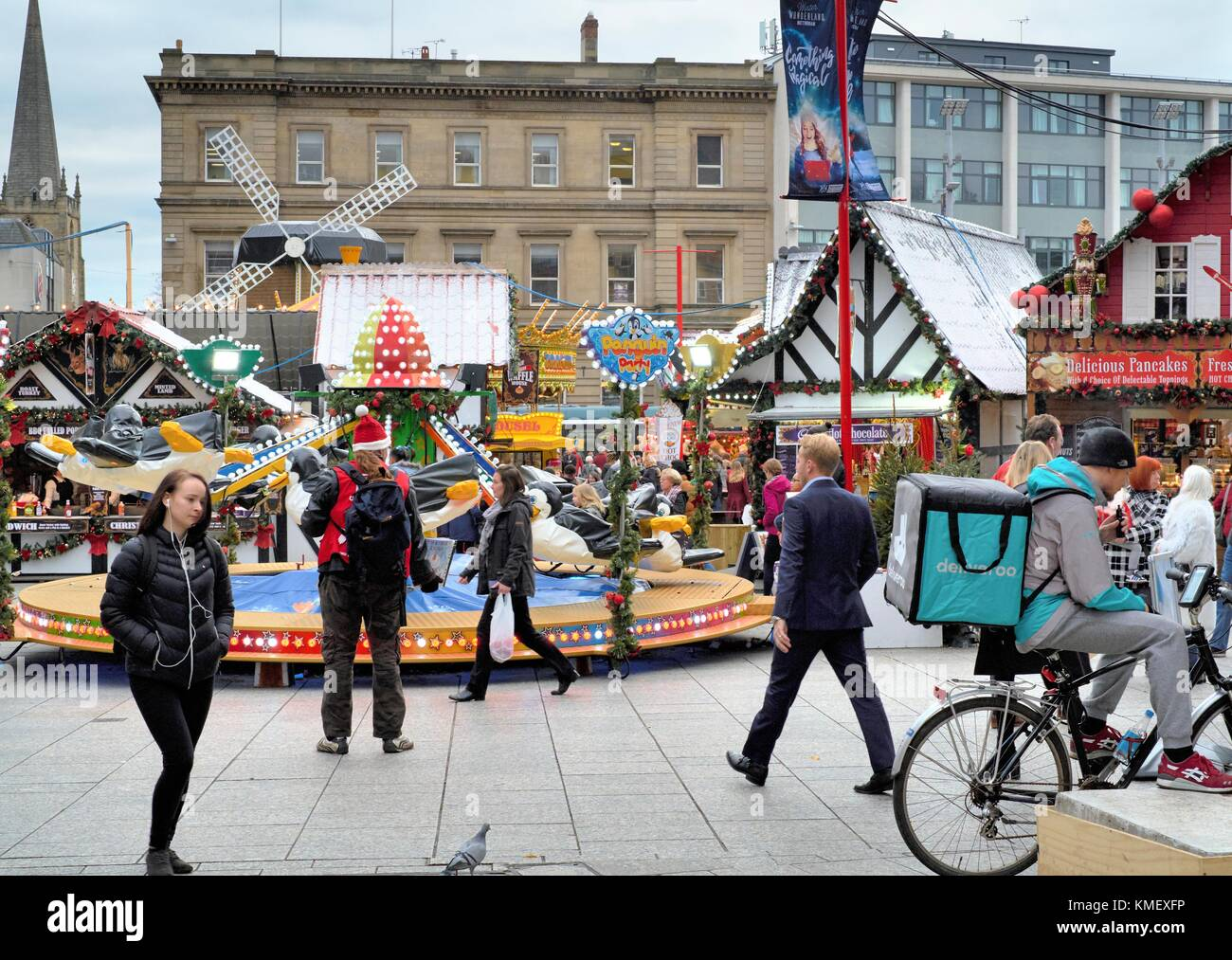 Nottingham Christmas market 2017 - Stock Image