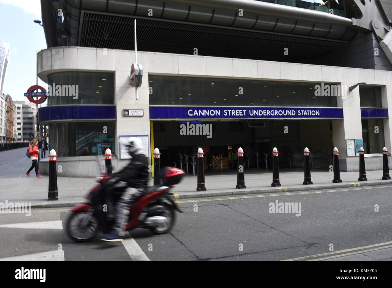 Cannon Street Underground Station, Cannon St, London EC4N 6AP. Cannon Street station, also known as London Cannon - Stock Image