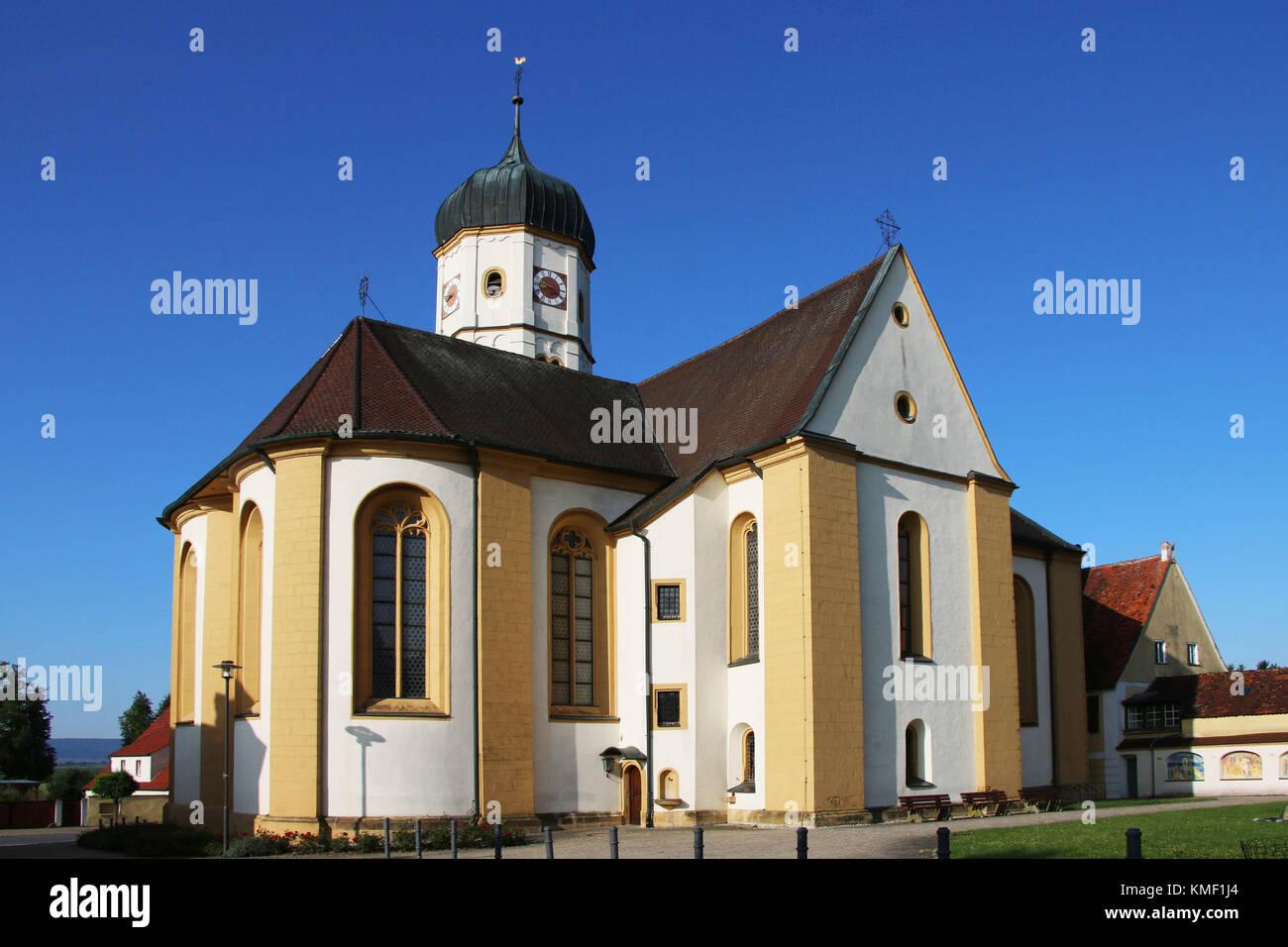 Wallerstein, Alban, Danube ream, Swabian, Bavaria, Germany, ream,,  Alban, Donau-Ries, Schwaben, Bayern, Deutschland, - Stock Image