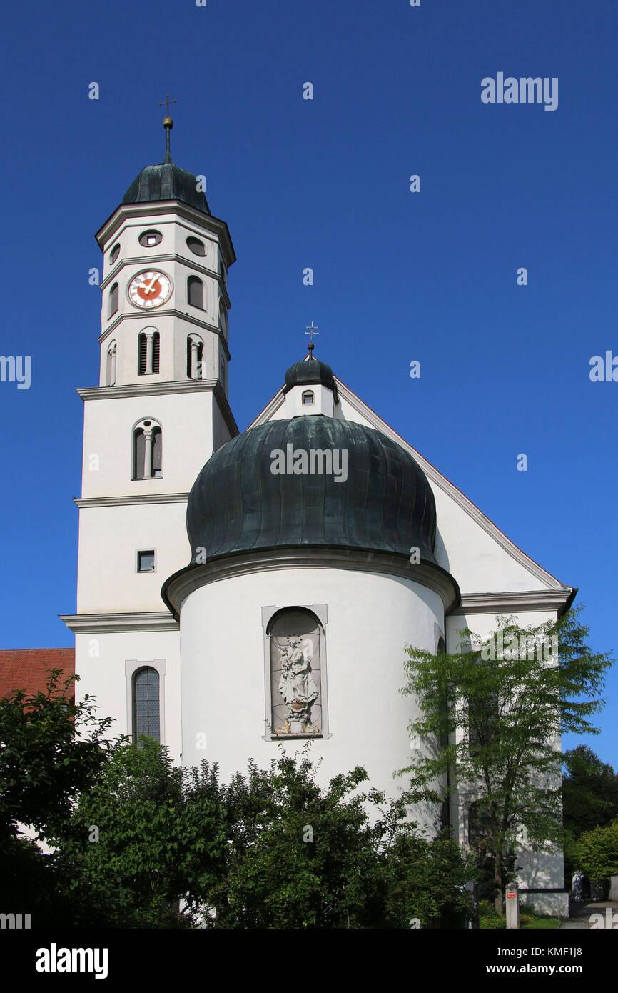 Maihingen, Danube ream, Swabian, Bavaria, Germany, church, civilised country ream, Donau-Ries, Schwaben, Bayern, - Stock Image
