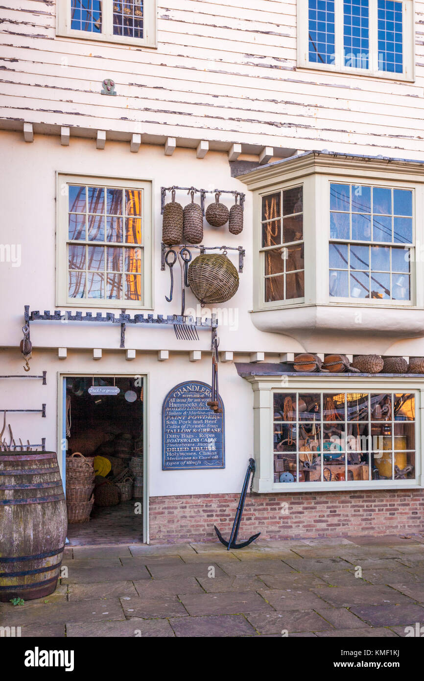 The chandlers store at The National Museum of the Royal Navy, Hartlepool UK - Stock Image