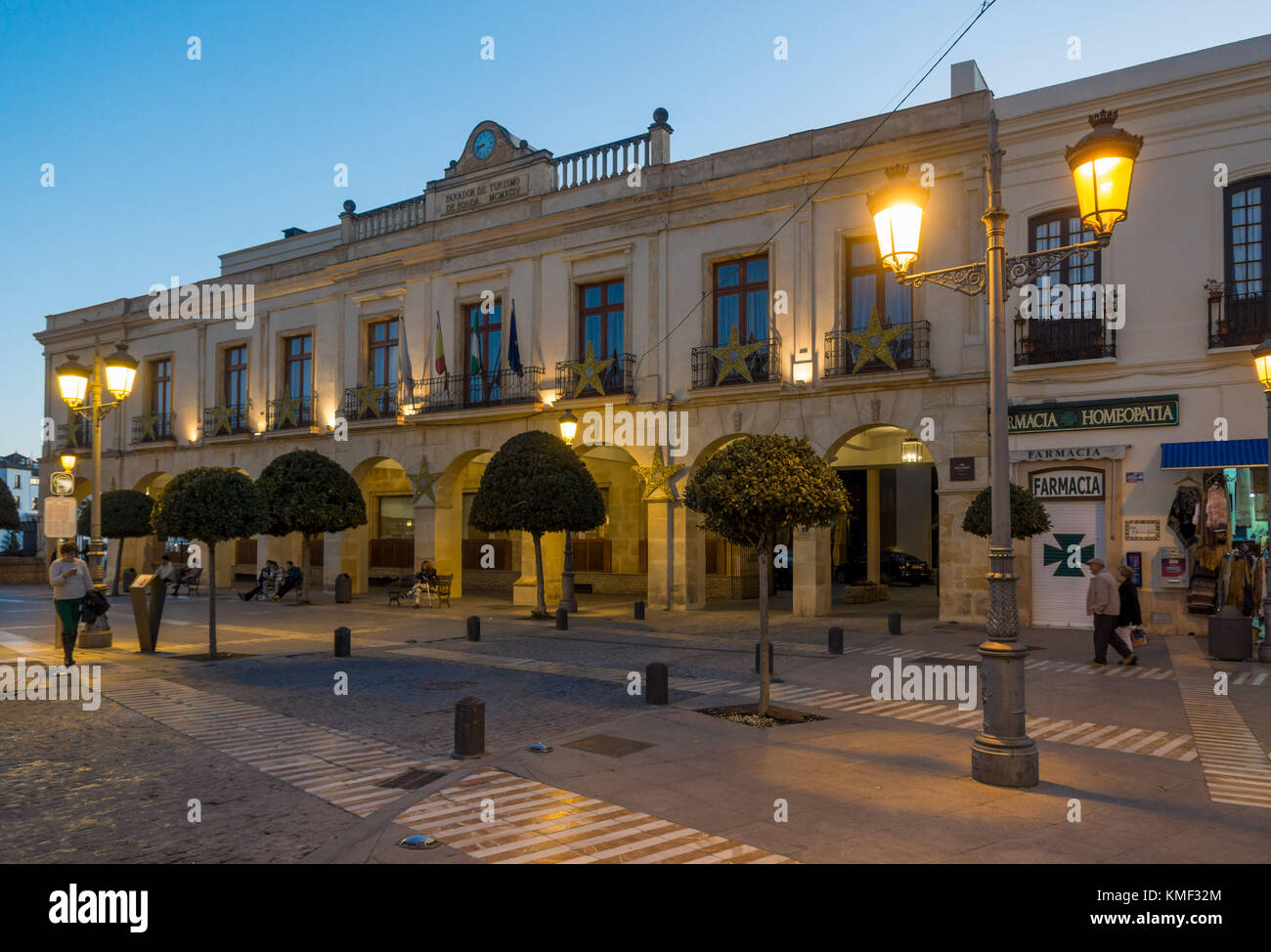 facade of hotel parador de ronda andalusia malaga spain stock photo 167518140 alamy. Black Bedroom Furniture Sets. Home Design Ideas