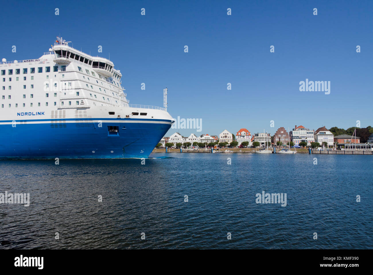 M/S Nordlink, Star class ferry boat sailing for Finnlines between Malmö and Travemünde in the Hanseatic - Stock Image