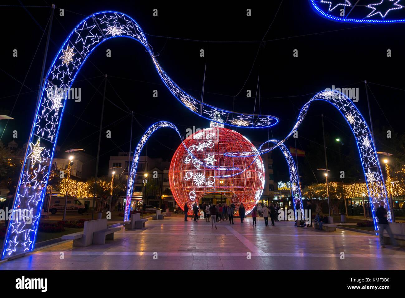 Giant Christmas Ball Christmas Bauble Christmas Lights In Center