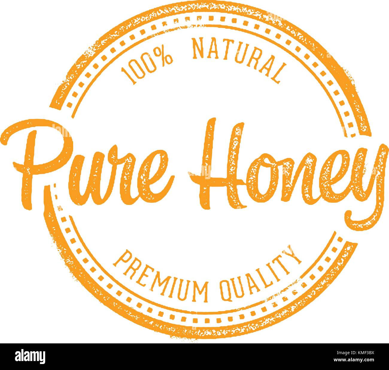 Pure Honey Vintage Rubber Stamp Product Label