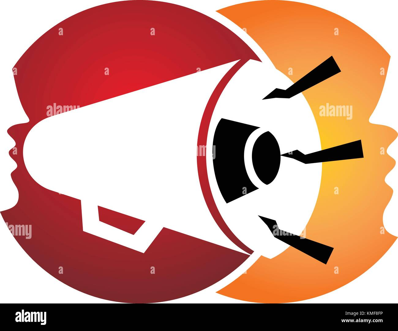 Megaphone Communication - Stock Vector