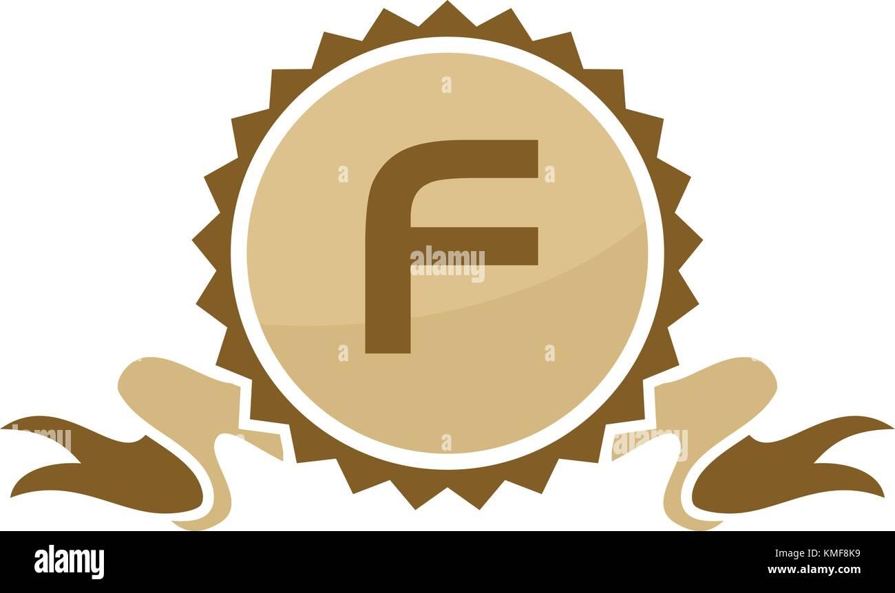 5ab63795fd Best Quality Ribbon Letter F Stock Vector Art & Illustration, Vector ...