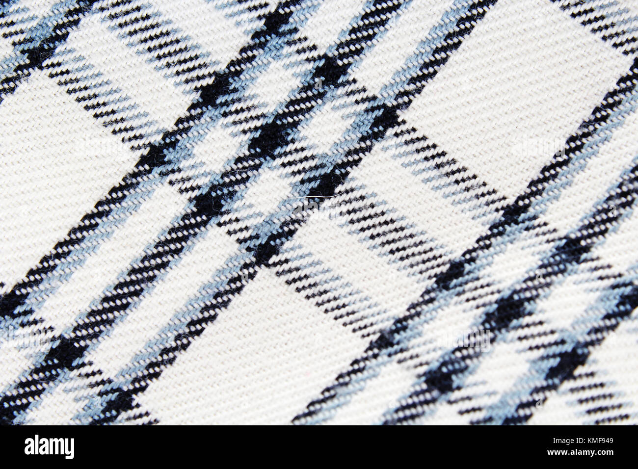 Chequered checked fabric dress material cloth texture pattern. - Stock Image