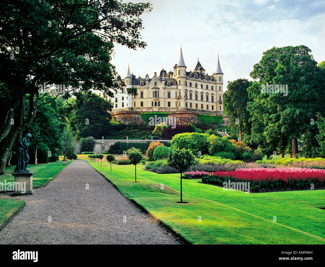 Dunrobin Castle, home of the Duke of Sutherland by architect Sir Charles Barry. Highland region, N.E. Scotland - Stock Image