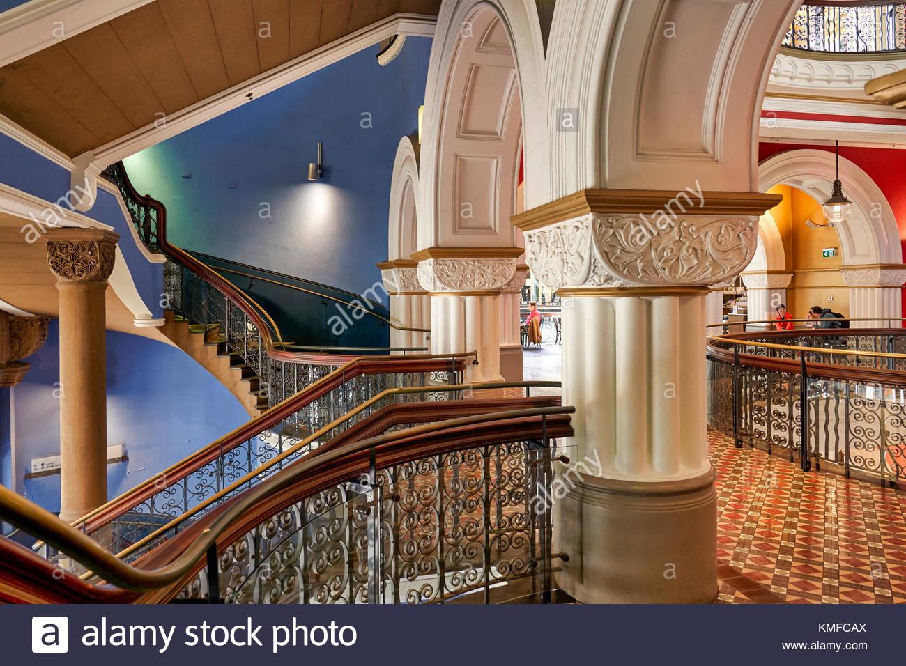 Queen Victoria Building Interior, Sydney, New South Wales, Australia, Oceania - Stock Image