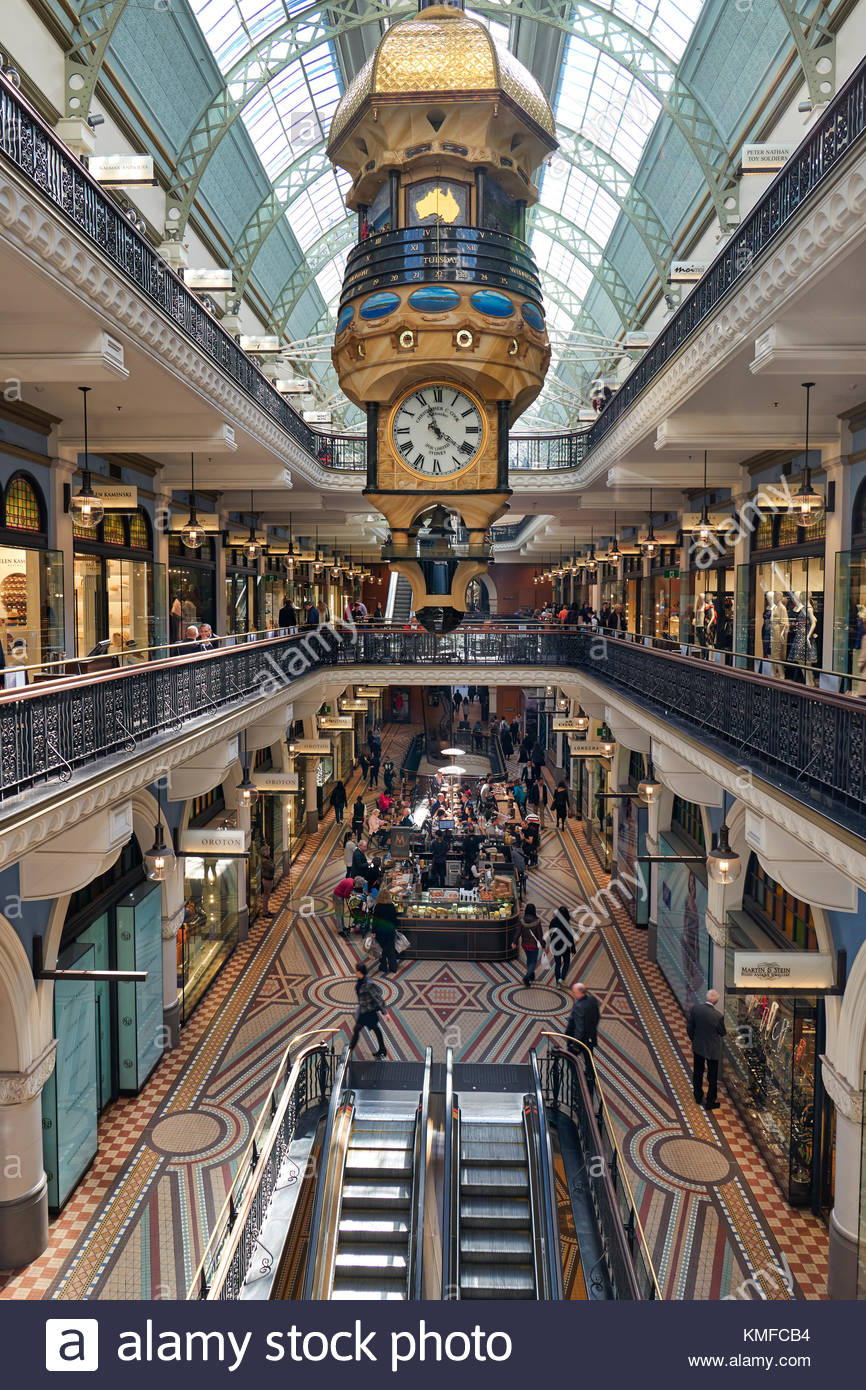 Queen Victoria Building Interior, Sydney, New South Wales, Australia, Oceania - Stock Image