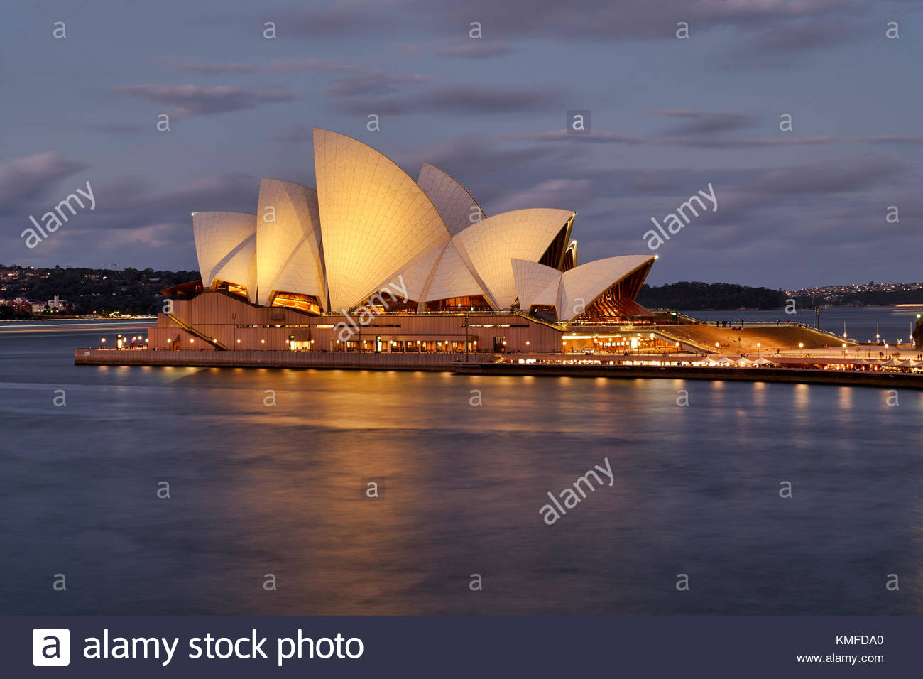 The Sydney Opera House at sunset. Sydney, Australia - Stock Image