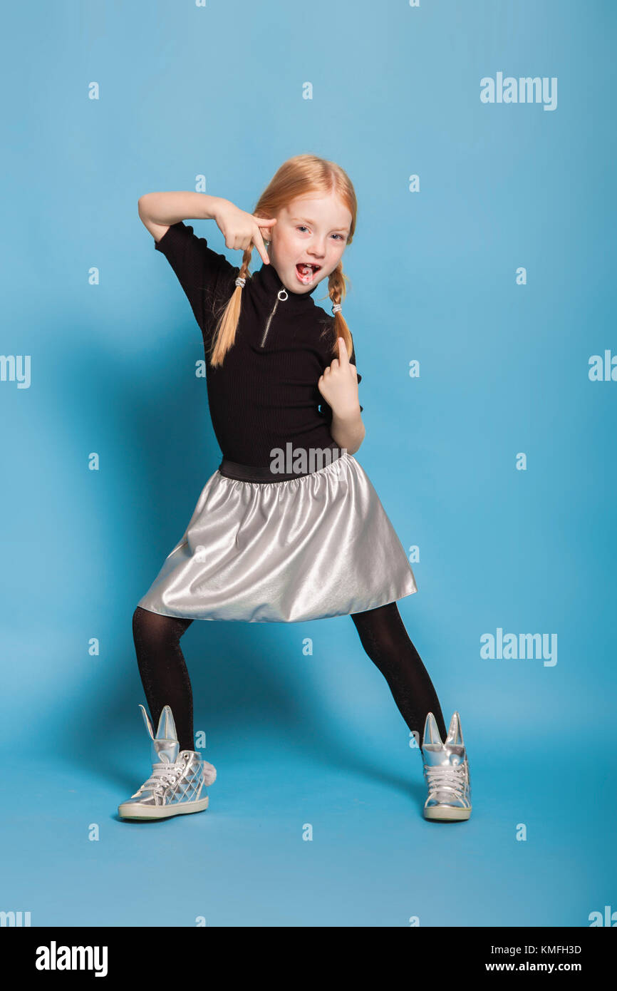 a funny little girl - Stock Image