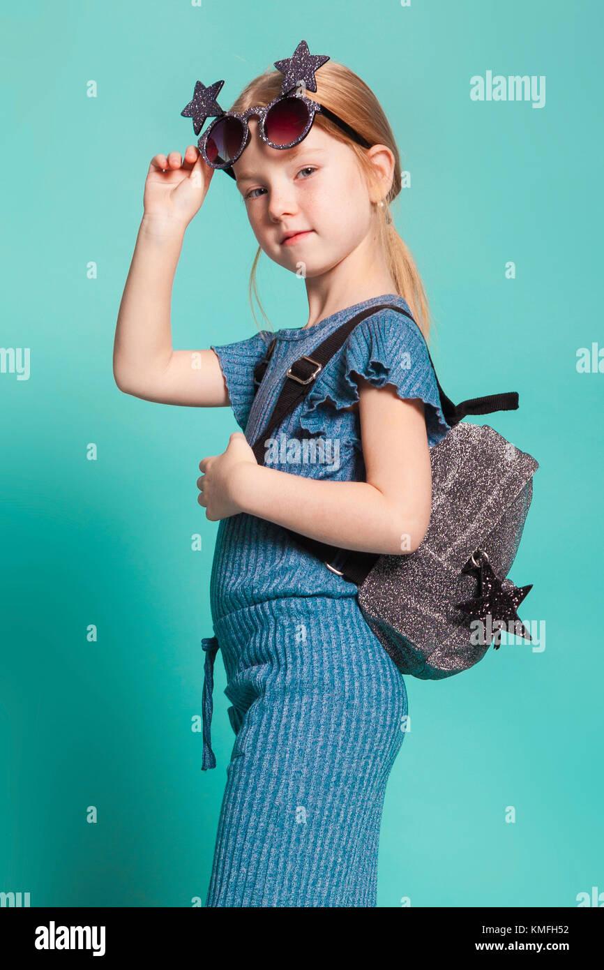 a pretty little girl - Stock Image
