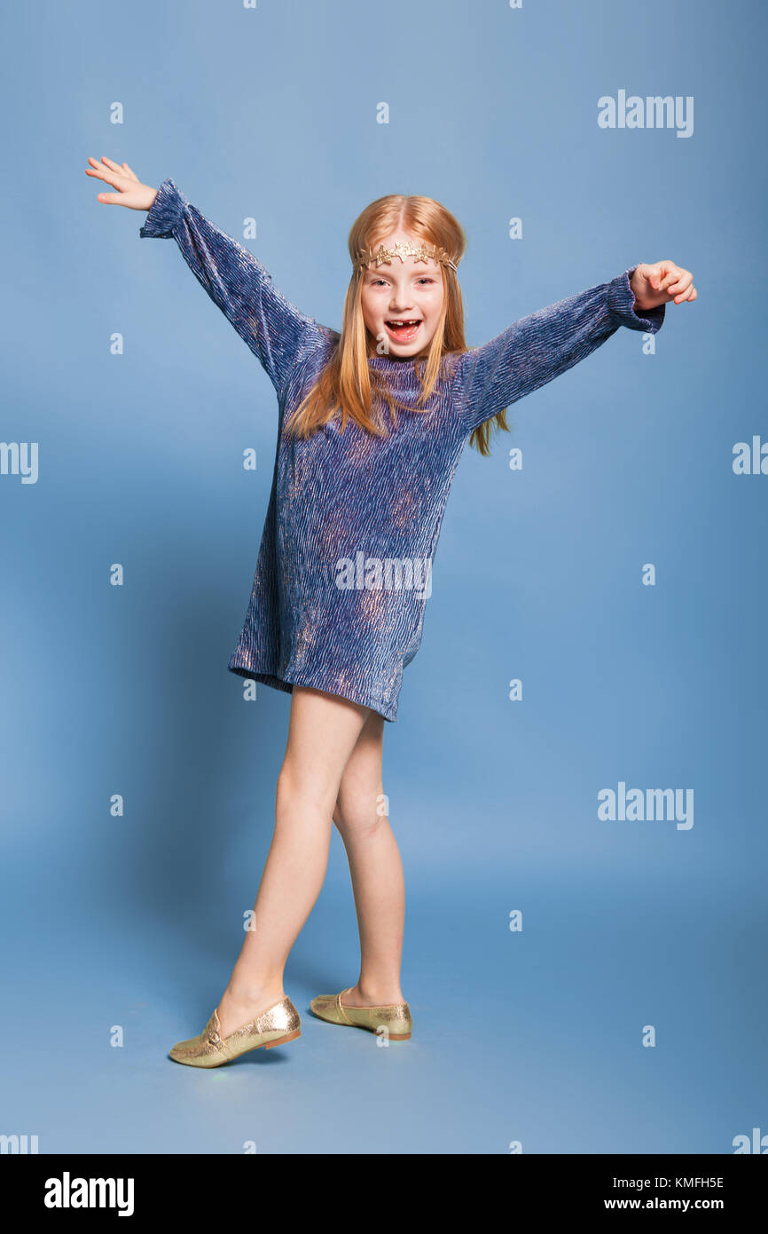 a little girl in the dress  - Stock Image