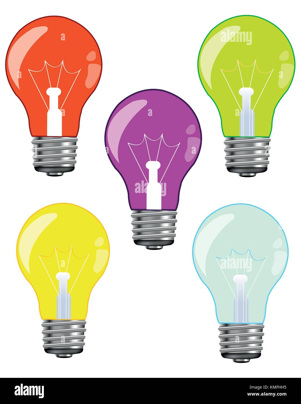 Light Bulbs Stock Vector Images Alamy Besides Incandescent On Bulb Diagram Colour