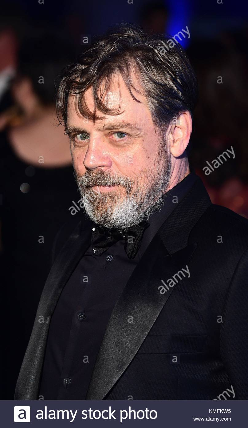 File photo dated 16/12/15 of Mark Hamill who has revealed that Carrie Fisher jumped at the chance to reprise her - Stock Image