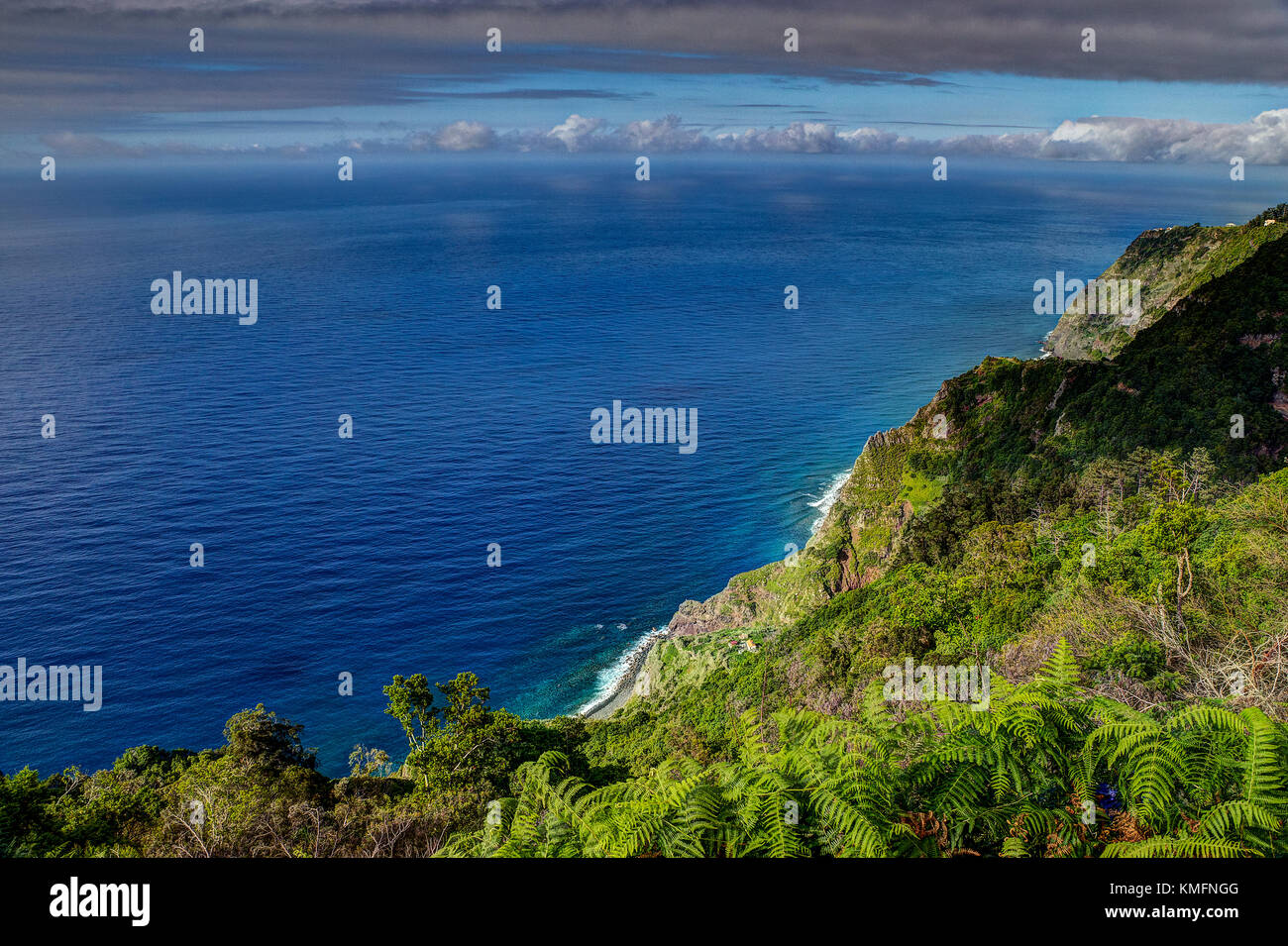Viewpoint / Oceanview on Madeira island, portugal - Stock Image