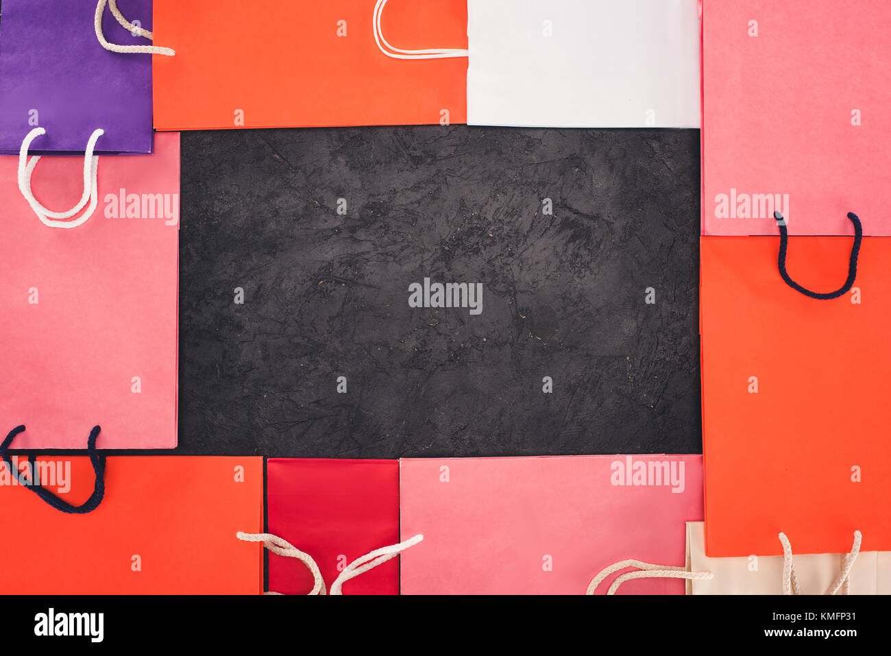 frame of shopping bags - Stock Image