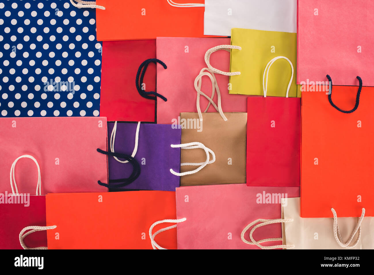 colorful shopping bags - Stock Image