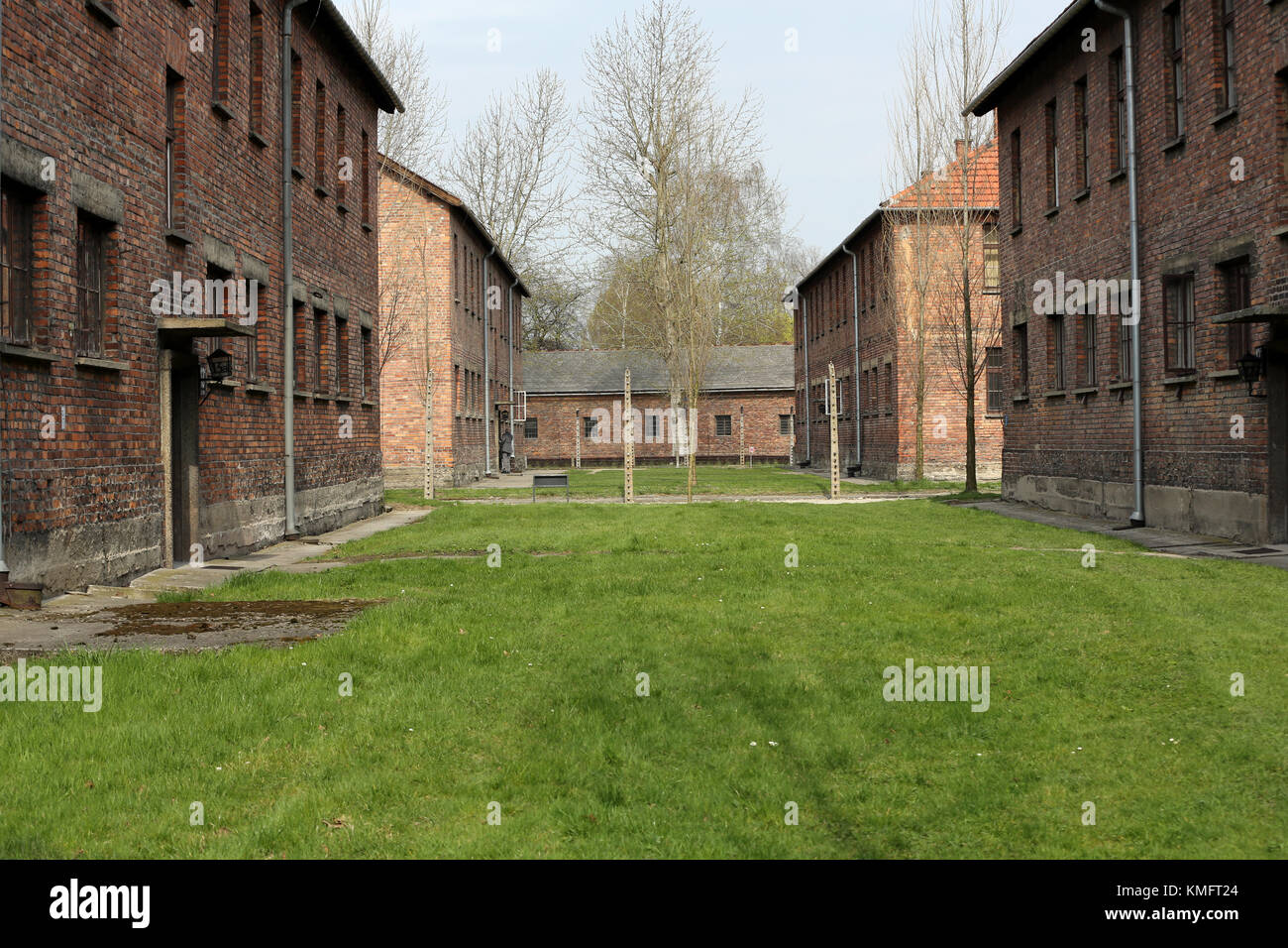 Buildings in the former German concentration camp in Oswiecim, Poland Oswiecim was the largest German concentration Stock Photo