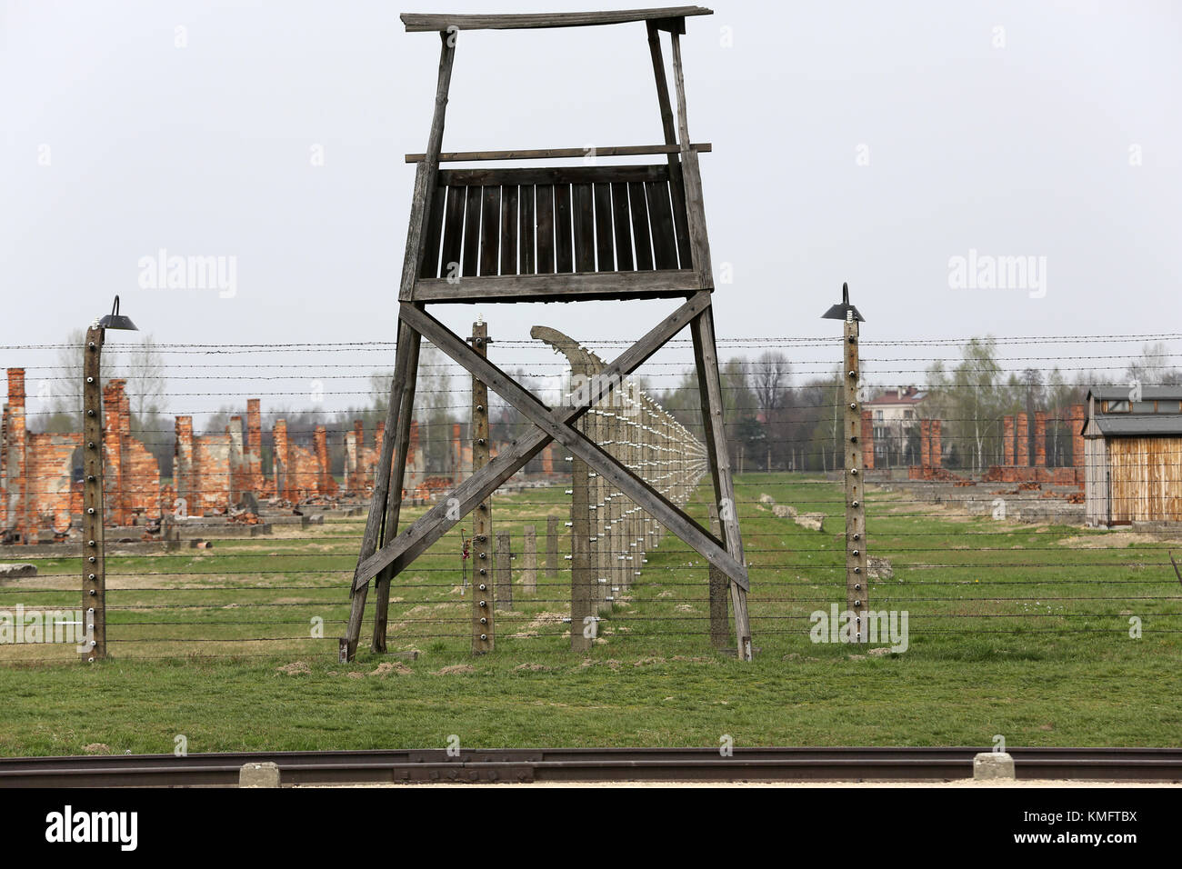 Auschwitz II Birkenau. Poland. The biggest nazi concentration camp in Europe and now the State Museum Auschwitz Stock Photo