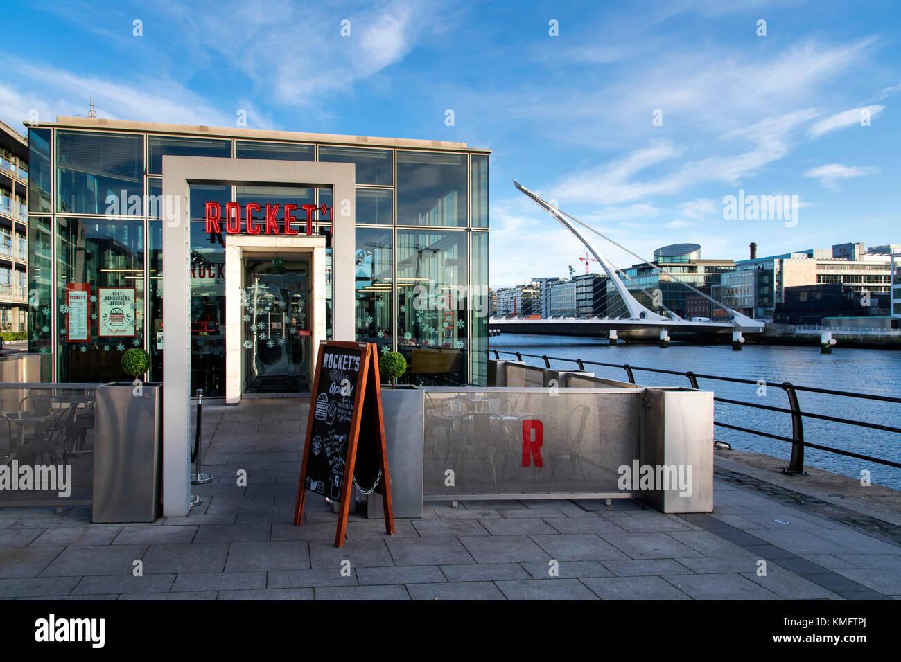 View towards Dublin Docklands, Ireland - Stock Image