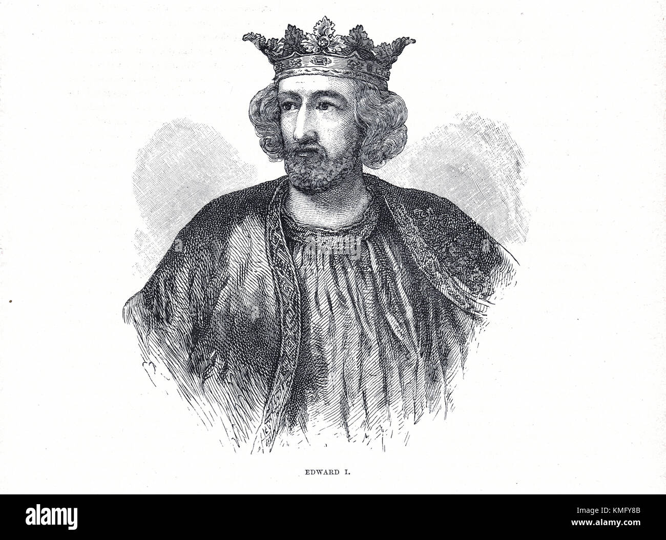 King Edward I of England, 1239-1307, reigned 1272-1307 - Stock Image