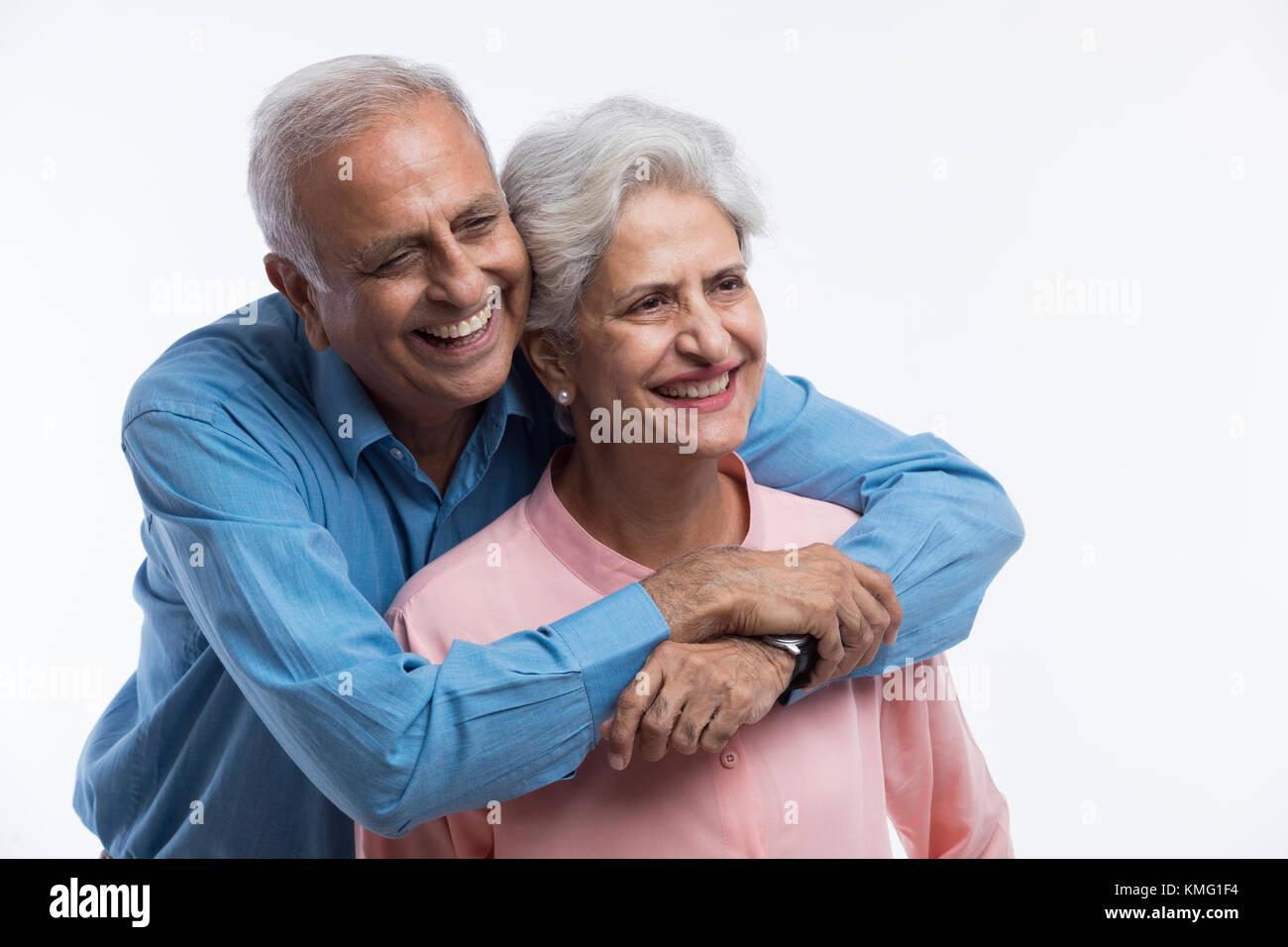 Portrait of senior couple - Stock Image