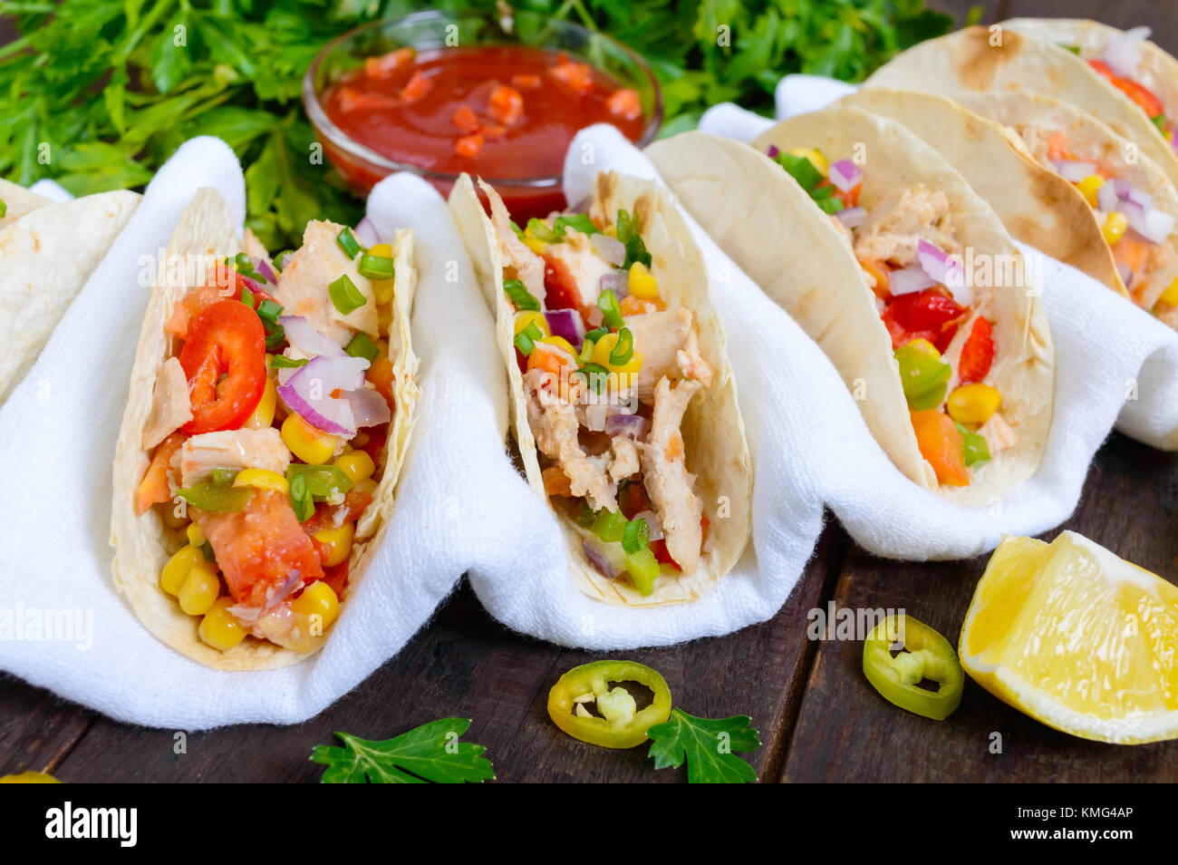 Mexican Restaurant Tacos Burritos Stock Photos Set Of Meat Cuts Diagram In Colourful Style With Corn Tomatoes Sweet Pepper Red Onions A