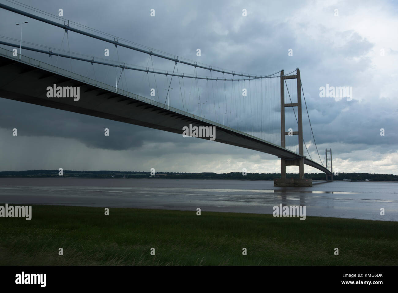 Humber Bridge, River Humber, England, UK. - Stock Image